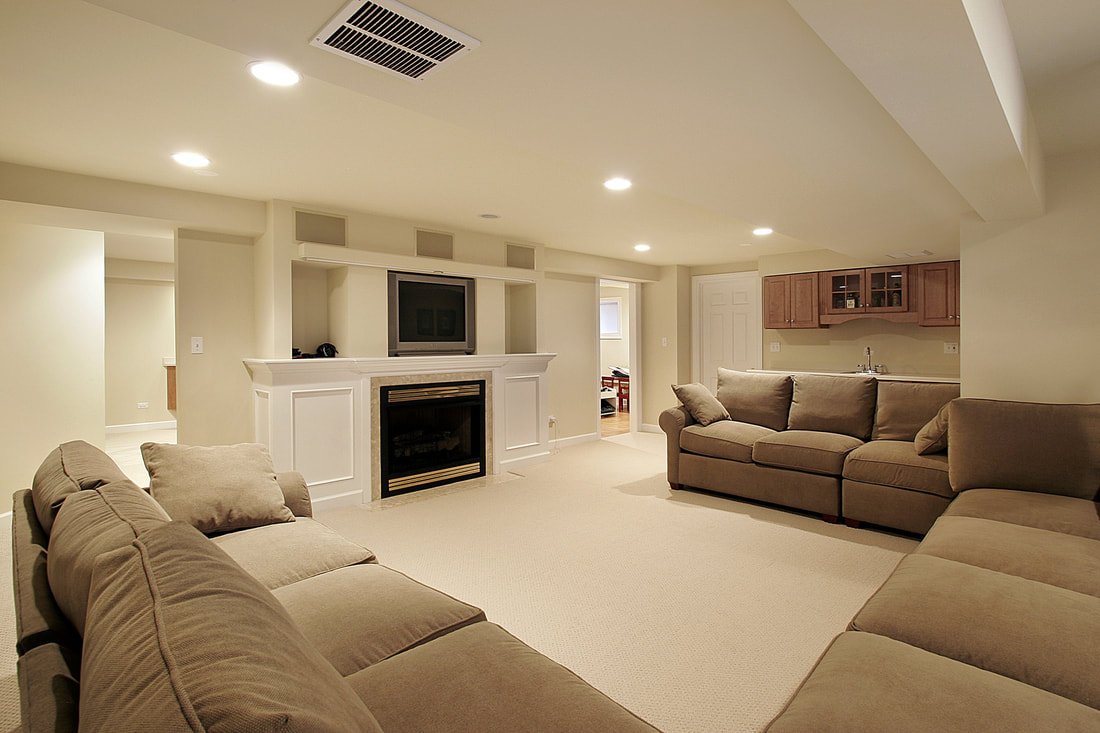 Basement remodel and finishing services contractor Rogers, MN